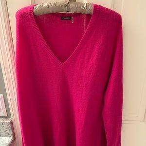 Maraschino pink cashmere sweater perfect medium